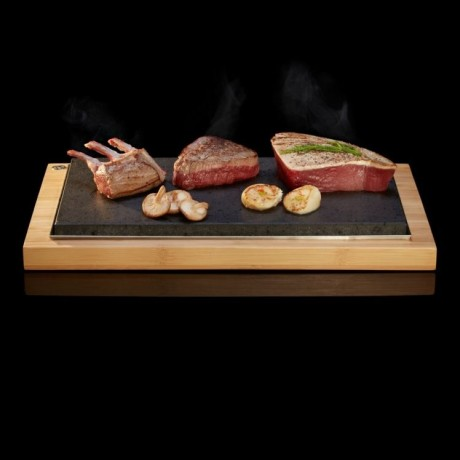 The Hot Stone Cooking Sharing Steak Plate