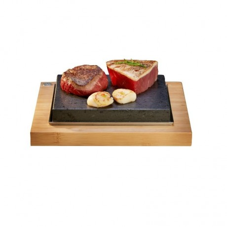 The Hot Stone Cooking Sizzling Steak Plate