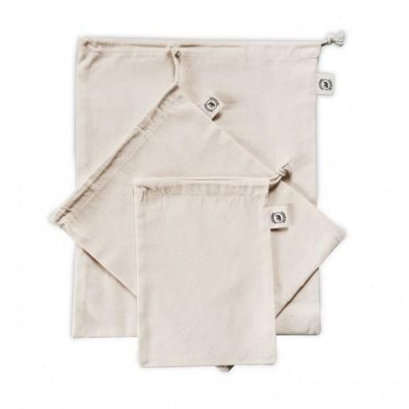 Cotton Produce Bags - Set of 3