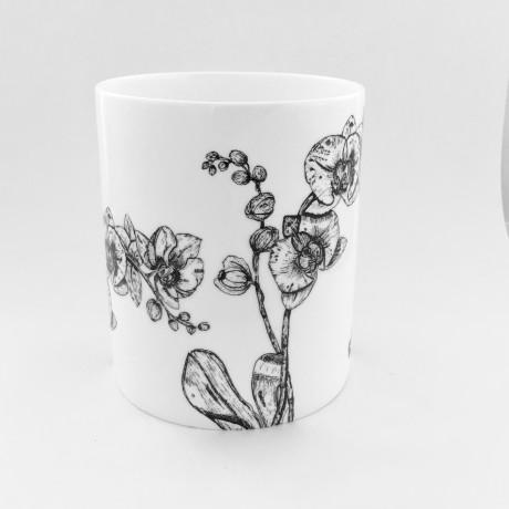 Fine Bone China Orchid Vase