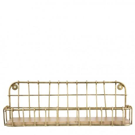 Metal Kitchen Shelf with Mango Wood Base