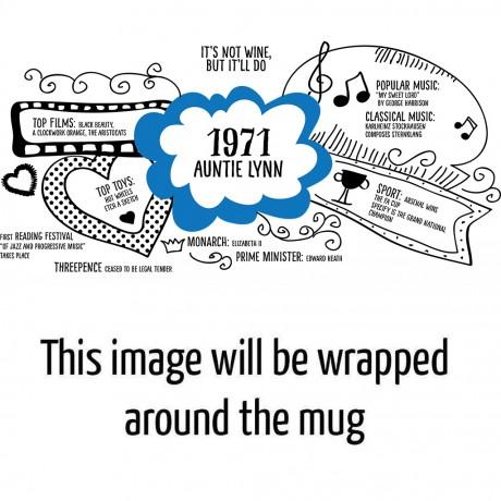 Personalised 50th Birthday 1971 Mug Gift