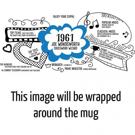 Personalised 60th Birthday 1961 Mug Gift
