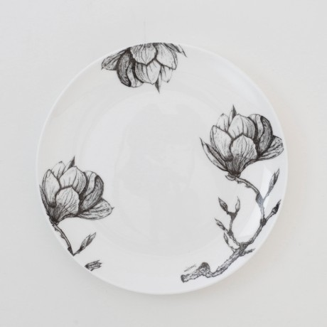 Fine Bone China Cake Plate - Floral Decadence