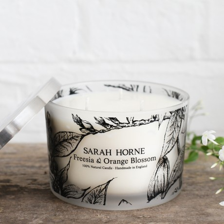 Freesia & Orange Blossom 3-Wick Candle with Lid