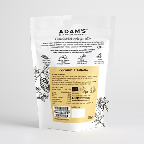 Adam's Cold Pressed Chocolate Coconut & Banana