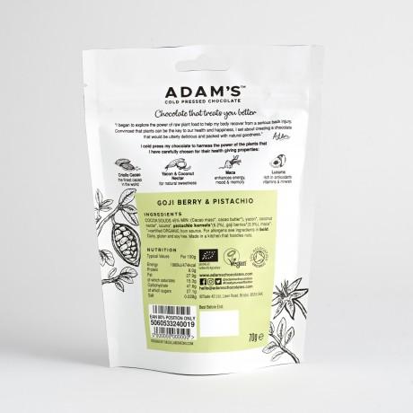Adam's Cold Pressed Chocolate Goji Berry & Pistachio