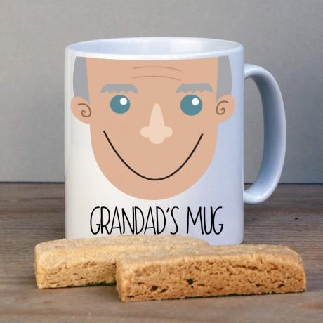 Personalised Grandad Face Mug