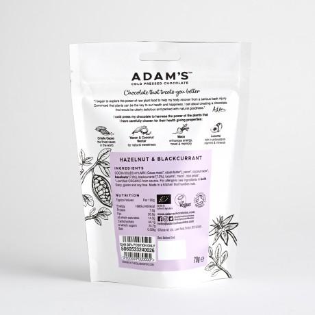 Adam's Cold Pressed Hazelnut & Blackcurrant Chocolate