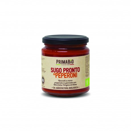 Organic Tomato Pasta Sauce with Peppers