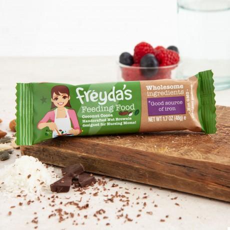 Breastfeeding Brownie Snack Bars - Freyda's Coconut Cocoa Feeding Food (Pack of 9)