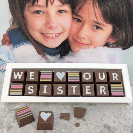 Personalised I LOVE YOU SISTER box of Chocolates