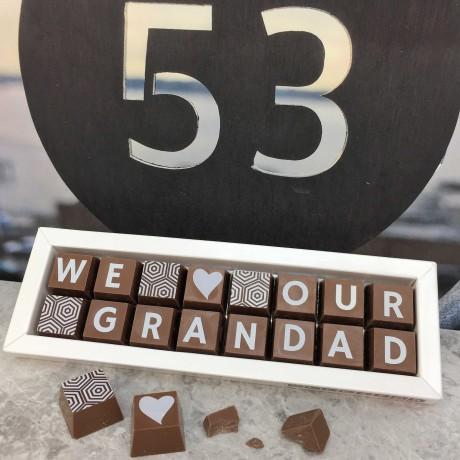 Personalised I LOVE YOU GRANDPA Box of Chocolates