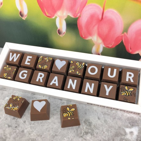 Personalised I LOVE YOU GRANDMA box of Chocolates