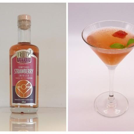 Stawberryand Basil Martini