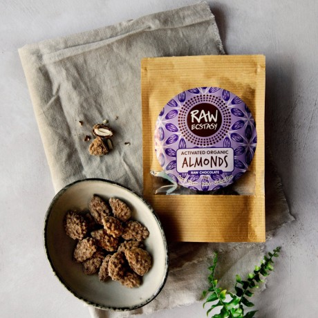 Activated Raw Chocolate Almonds - 3 packs