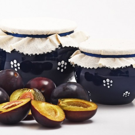 Plum Jam in Artisan Clay Pot