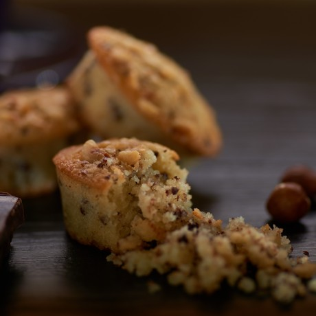 B-Temtped Gluten Free Dark Chocolate and Hazelnut Friands