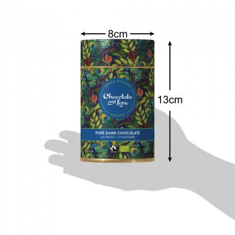 Chocolate and Love Rich Dark Chocolate Gift Tin