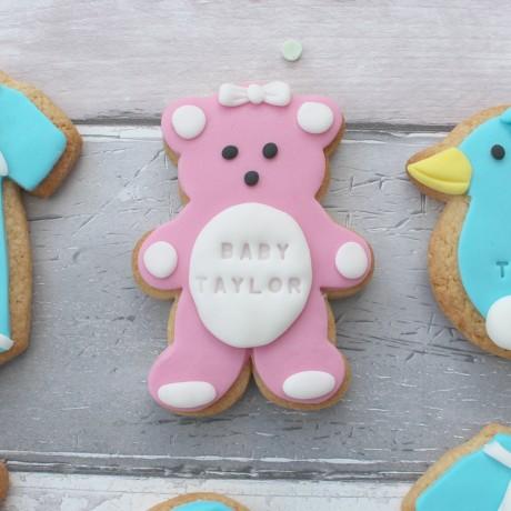 Personalised baby shower cookies