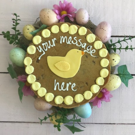 Personalised Easter Chick Giant Chocolate Chip Cookie