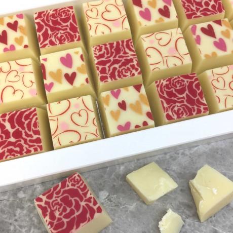 Cocoapod white chocolate mosaic box gift