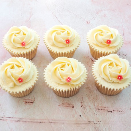 Rose Swirl Flower Cupcakes by Post