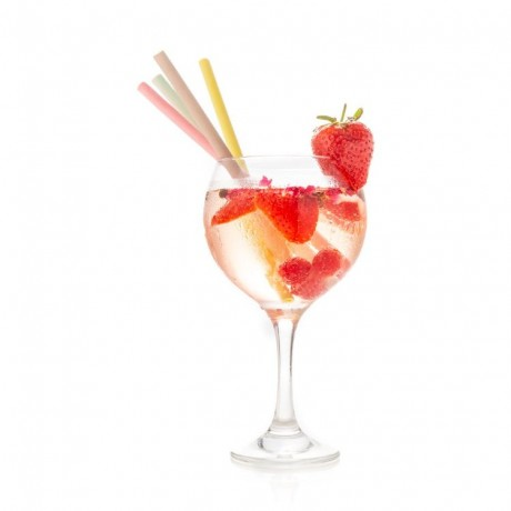 20 x Mixed Flavours Edible Straws (Strawberry, Lemon, Lime, Chocolate)