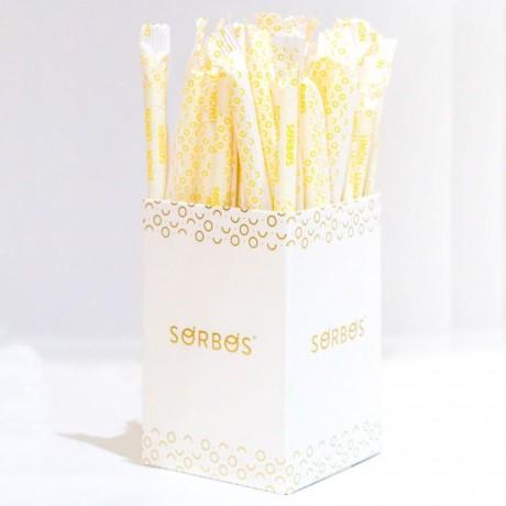 20 x Lemon Flavour Edible Straws