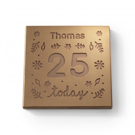 Personalised Chocolate Birthday Bear Card