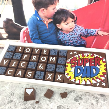 Personalised LOVE FROM [names] SUPERDAD Chocolates