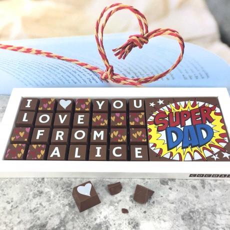 Personalised I LOVE YOU SUPERDAD Chocolates