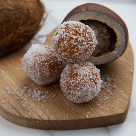 Coconut Gulab Jamuns - Indian Sweets