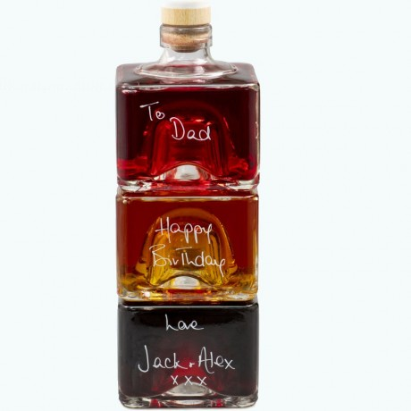 Father's Day Personalised Liqueur Stacker Bottles Set