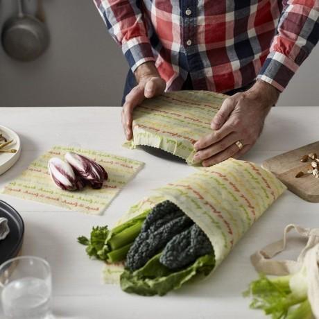 Reusable Vegan Food Wraps - Medium Kitchen Pack