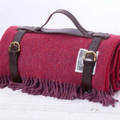 Apple Red Picnic Rug in Strap