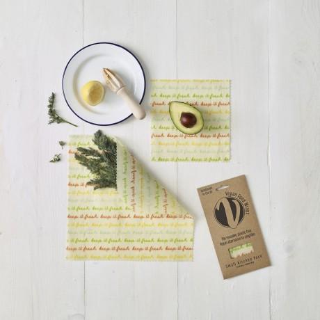 Reusable Vegan Food Wraps - Small Kitchen Pack