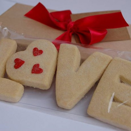Valentines 'Love' Shortbread
