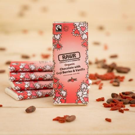Organic Fairtrade Goji & Vanilla Chocolate Bar 60g