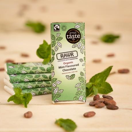 Organic Fairtrade Mint Chocolate Bar 60g