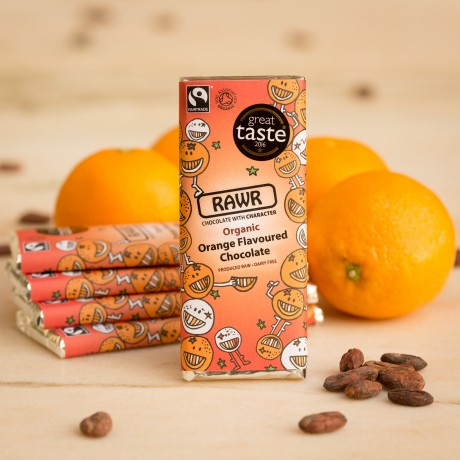Organic Fairtrade Orange Chocolate Bar 60g