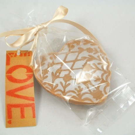 Large Heart Fudge Favours