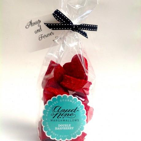 Double Raspberry Marshmallow Hearts