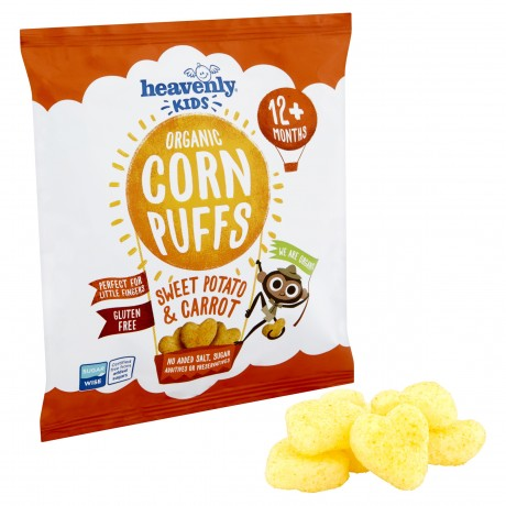 Kids Corn Puffs with Sweet Potato & Carrot (pack of 6 x 15g)