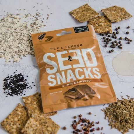 Pep & Lekker Cumin & Linseed Seed Snack - Lightly Baked Bites