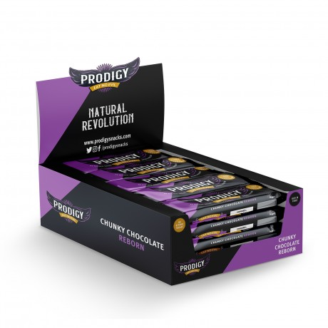 Prodigy Chunky Chocolate - No Refined Sugars 24 x 35g Bars