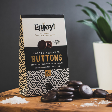 Salted caramel chocolate buttons