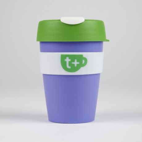 Keepcup - Purple Smart Reusable Tea & Coffee Travel Cup with Lid 340ml