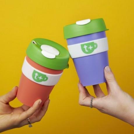 Keepcup - Purple Smart Reusable Tea & Coffee Travel Cup with Lid 340ml