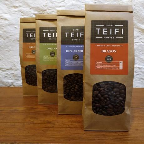 Teifi Coffee - Selection Pack - Coffee Beans - 4 x 227g packs